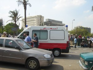 Ambulance at Tahrir